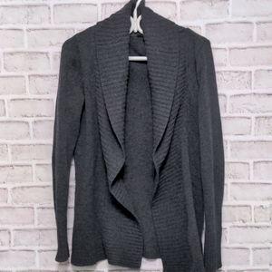Jacob Lambs Wool Grey Cocoon Cardigan Size Medium
